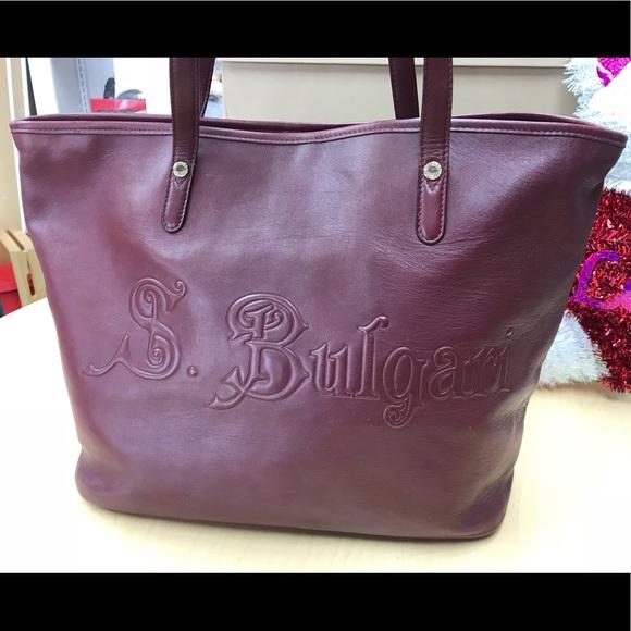 Bulgari Handbags - SOTORIO BVLGARI TOTE BAG  PLUM VGUC